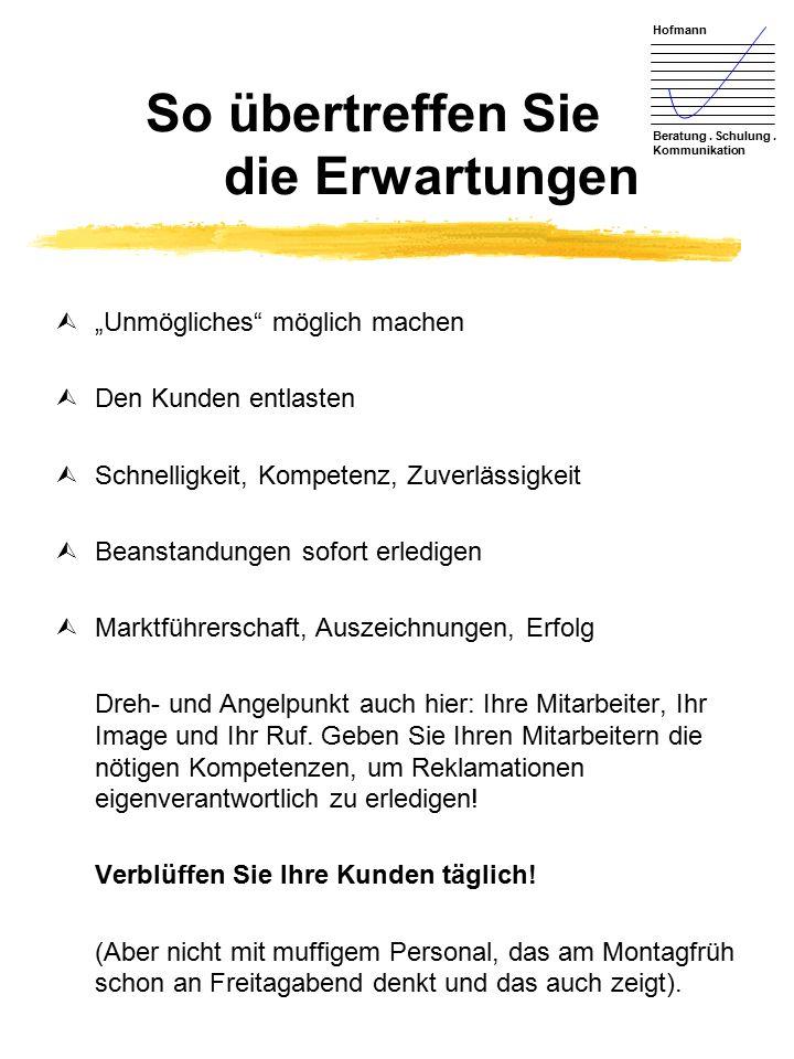 Hofmann Beratung. Schulung.