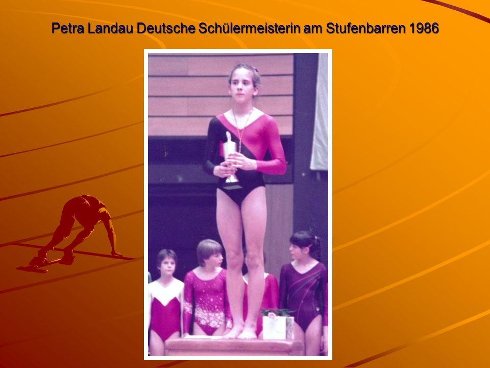 Petra Landau Deutsche Schülermeisterin am Stufenbarren 1986