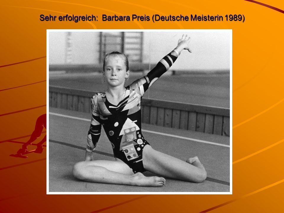 Sehr erfolgreich: Barbara Preis (Deutsche Meisterin 1989)