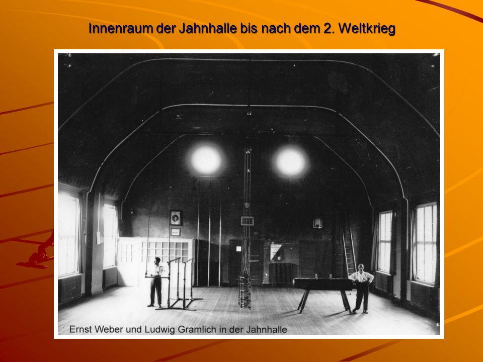 Innenraum der Jahnhalle bis nach dem 2. Weltkrieg