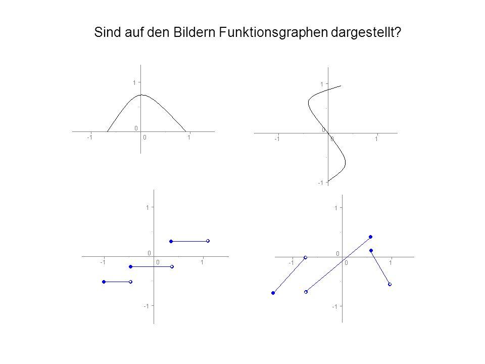 Sind auf den Bildern Funktionsgraphen dargestellt?
