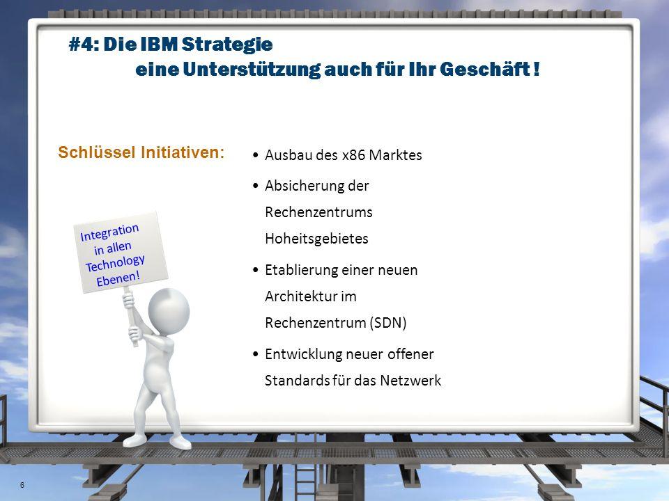 #4: Die IBM Strategie eine Unterstützung auch für Ihr Geschäft ! Ausbau des x86 Marktes Absicherung der Rechenzentrums Hoheitsgebietes Etablierung ein
