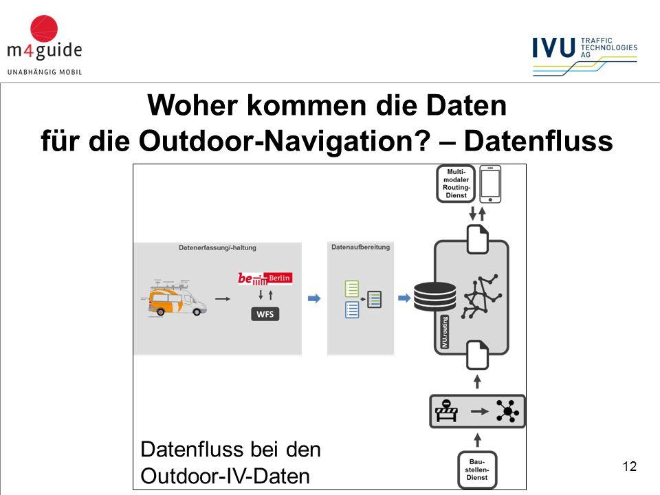 12 Datenfluss bei den Outdoor-IV-Daten Woher kommen die Daten für die Outdoor-Navigation.