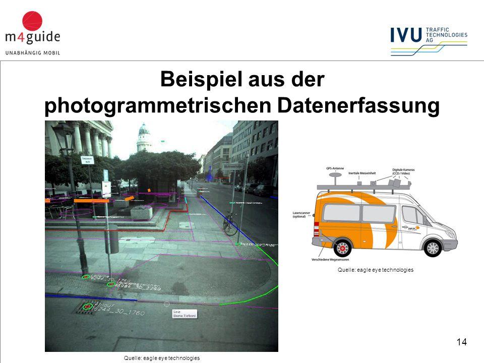 14 Quelle: eagle eye technologies Beispiel aus der photogrammetrischen Datenerfassung