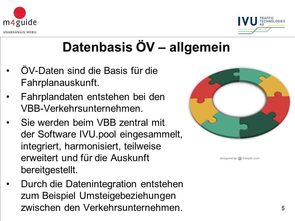 ÖV-Daten sind die Basis für die Fahrplanauskunft.