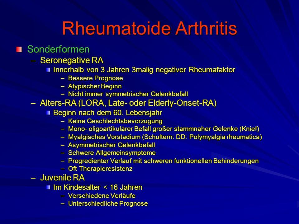 Rheumatoide Arthritis Beispiele Rheumachirurgischer Eingriffe –Schulter –Hand –Wirbelsäule –Fuß