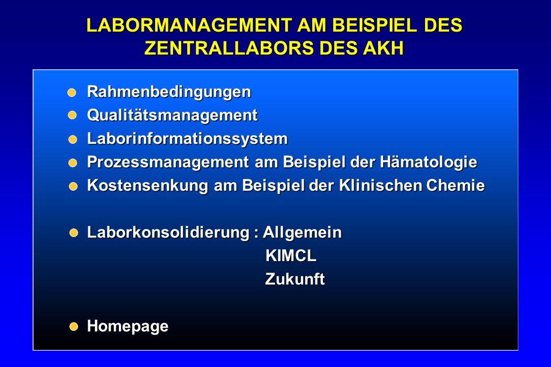 CHRONOLOGIE 2001 Erste Gespräche zw.Laborleitung und ärztl.