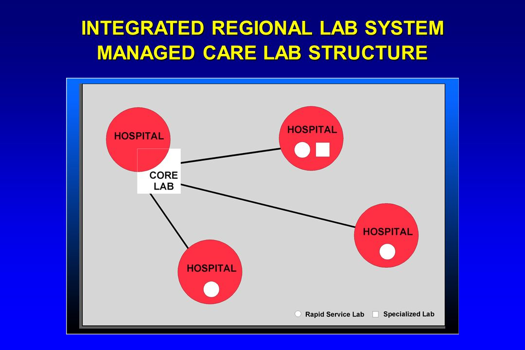 INTEGRATED REGIONAL LAB SYSTEM MANAGED CARE LAB STRUCTURE