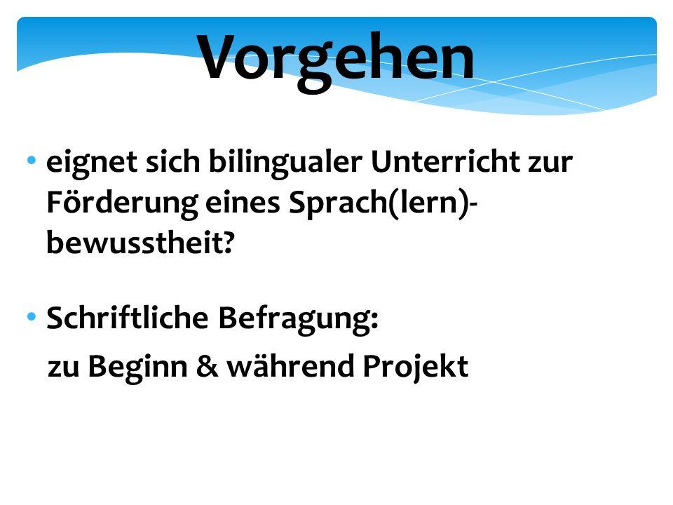 eignet sich bilingualer Unterricht zur Förderung eines Sprach(lern)- bewusstheit.