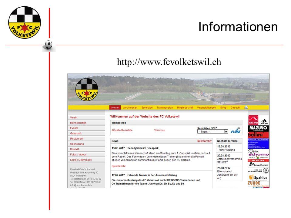 Informationen http://www.fcvolketswil.ch