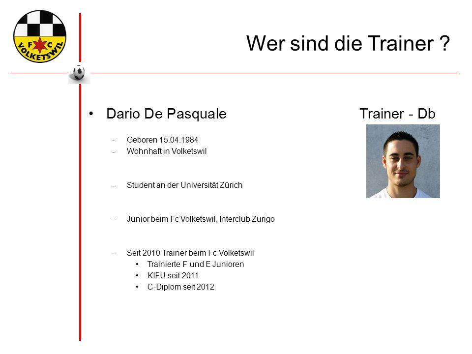 Wer sind die Trainer .