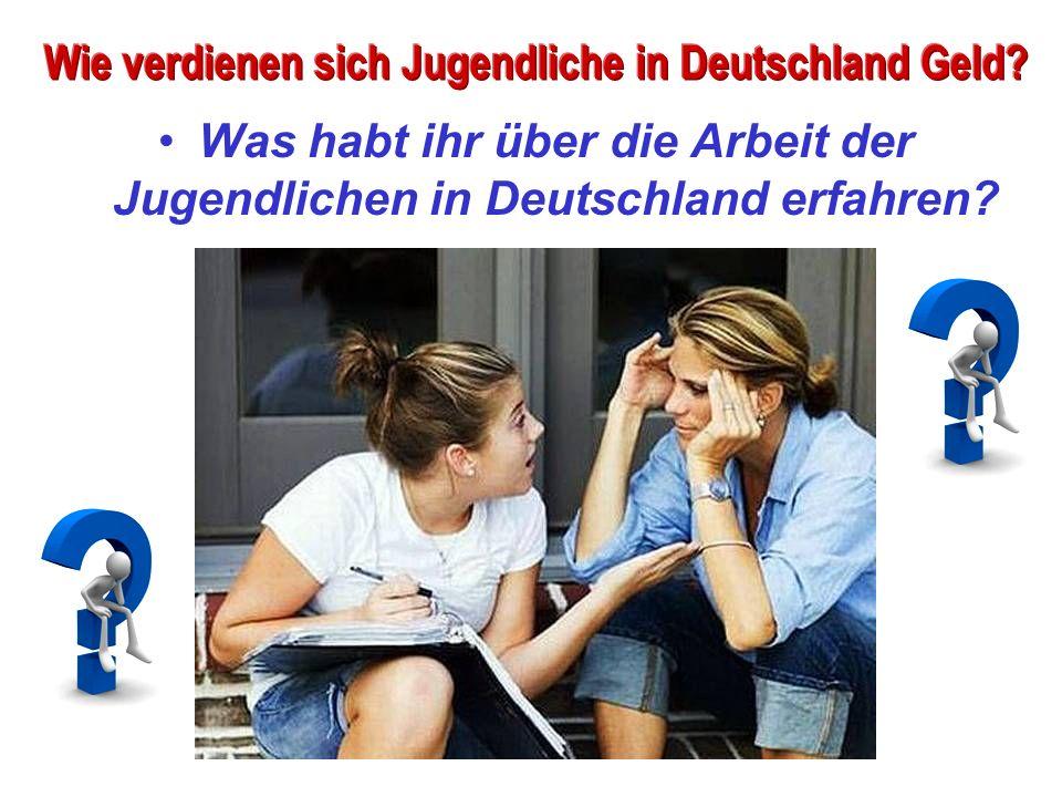 Was habt ihr über die Arbeit der Jugendlichen in Deutschland erfahren?