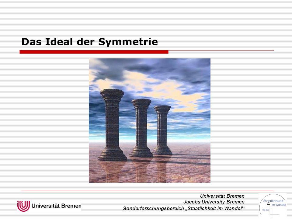 """Universität Bremen Jacobs University Bremen Sonderforschungsbereich """"Staatlichkeit im Wandel """" 4 Das Ideal der Symmetrie"""