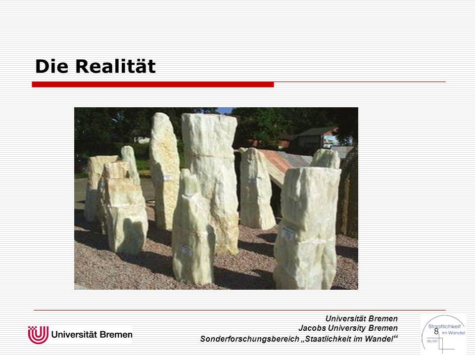 """Universität Bremen Jacobs University Bremen Sonderforschungsbereich """"Staatlichkeit im Wandel """" 8 Die Realität"""
