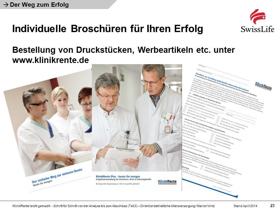 KlinikRente leicht gemacht - Schritt für Schritt von der Analyse bis zum Abschluss (Teil 2) – Direktion betriebliche Altersversorgung / Marion Vintz 2