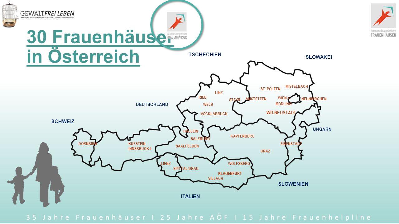 Organigramm Autonome Österreichische Frauenhäuser http://www.aoef.at/index.php/frauenhaeuser2 Informationsstelle gegen Gewalt www.aoef.at / informationsstelle@aoef.at www.aoef.atinformationsstelle@aoef.at Frauenhelpline gegen Gewalt 0800 / 222 555 www.frauenhelpline.at / frauenhelpline@aoef.at www.frauenhelpline.atfrauenhelpline@aoef.at