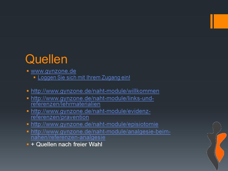 Quellen  www.gynzone.de www.gynzone.de  Loggen Sie sich mit Ihrem Zugang ein.