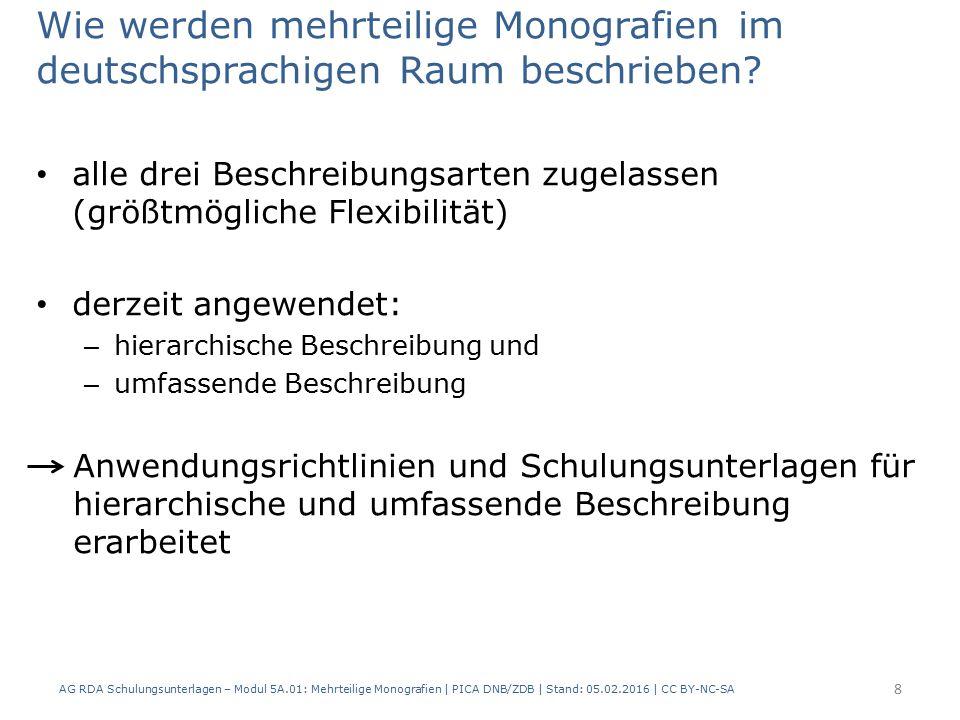 Ausgabevermerk: Beispiel AG RDA Schulungsunterlagen – Modul 5A.01: Mehrteilige Monografien | PICA DNB/ZDB | Stand: 05.02.2016 | CC BY-NC-SA 89 PICARDAElementErfassung 40002.3.2HaupttitelMathematik für Wirtschaftswissenschaftler 42012.17.