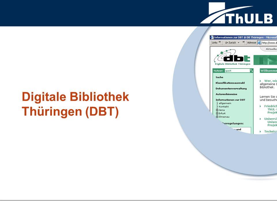 Digitale Bibliothek Thüringen (DBT)