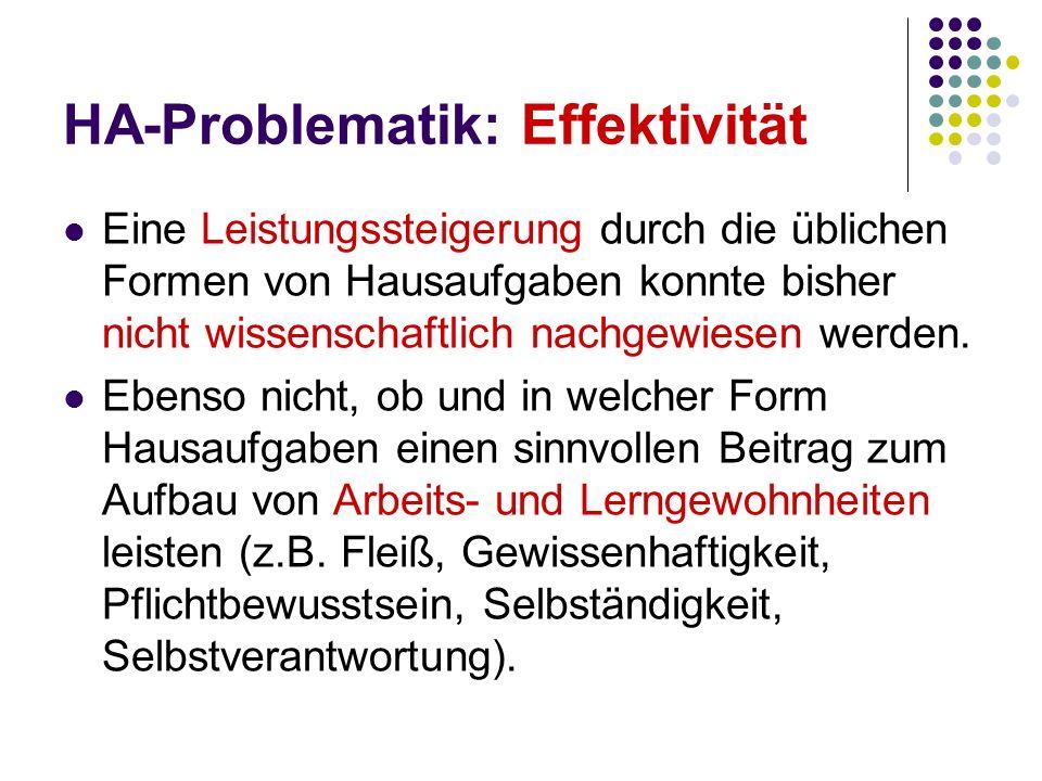 Quellen: Bodenbender, Tanja (2004).Auf dem Weg zu alternativen Hausaufgaben.