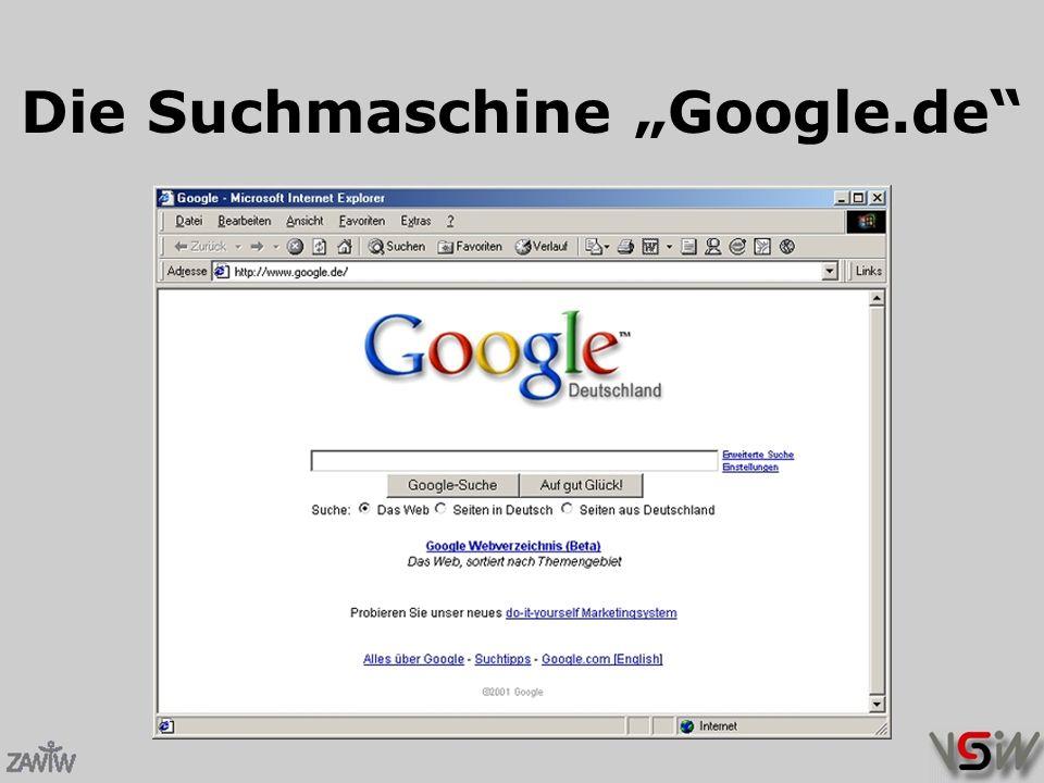"""Die Suchmaschine """"Google.de"""
