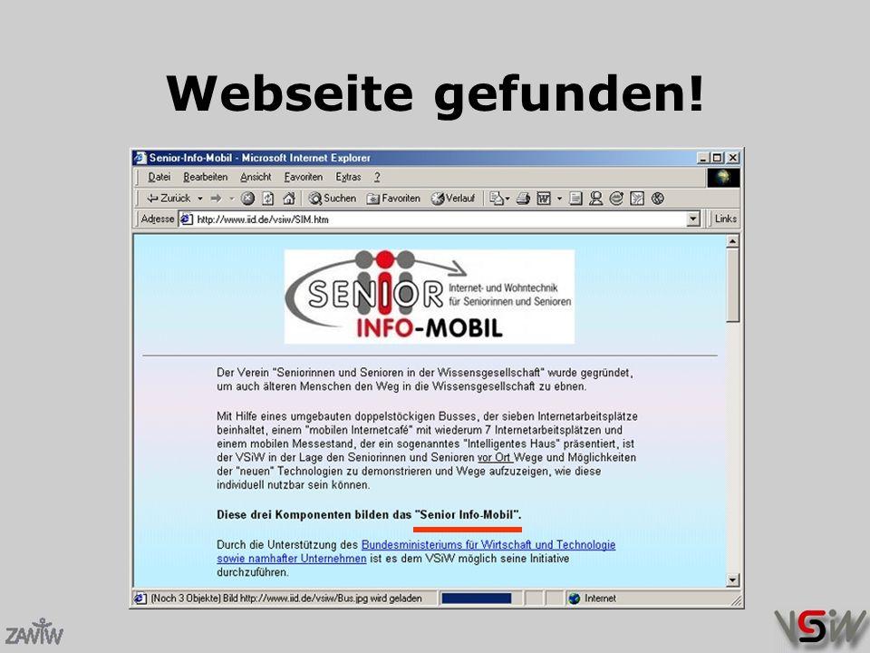 Webseite gefunden!