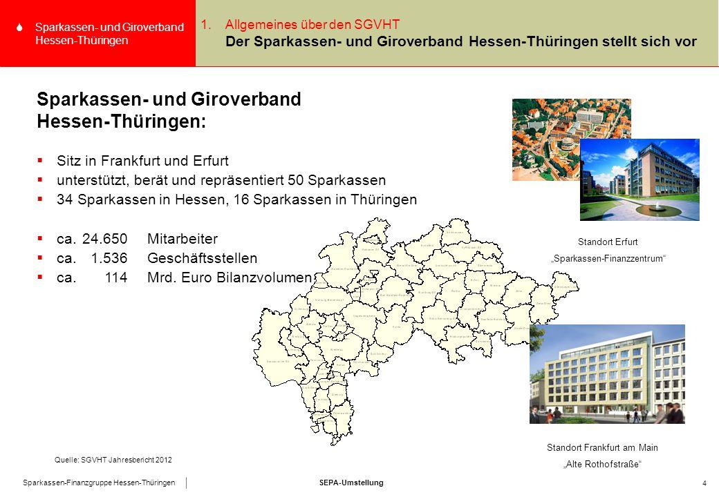 SEPA-UmstellungSparkassen-Finanzgruppe Hessen-Thüringen SSparkassen- und Giroverband Hessen-Thüringen 35 1.Begrüßung und Einführung Kerninhalte SEPA-  Die nationalen Zahlverfahren in Euro sind grundsätzlich zum 1.