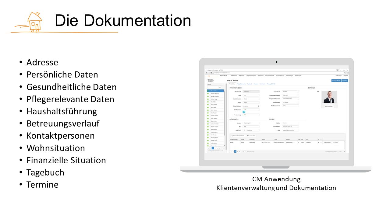 Die Aufgaben CM Anwendung Aufgabenverwaltung Terminverwaltung Netzwerkverwaltung Checklistenvorlagen Vorlagen Hilfeplan Dokumentvorlagen Assessment Ziel vereinbarung MonitoringAbschlussPrävention Outlook Aufgabe Outlook Termin E-Mail Dokumente Netzwerkpartner erstellt verknüpft