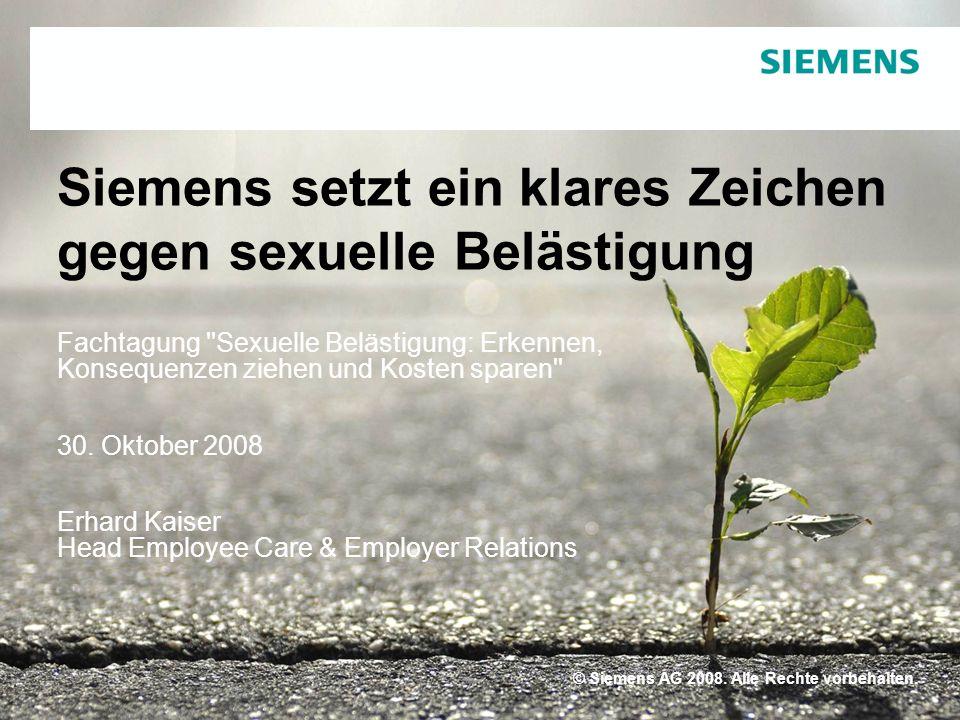 © Siemens AG 2008. Alle Rechte vorbehalten© Siemens AG 2008.