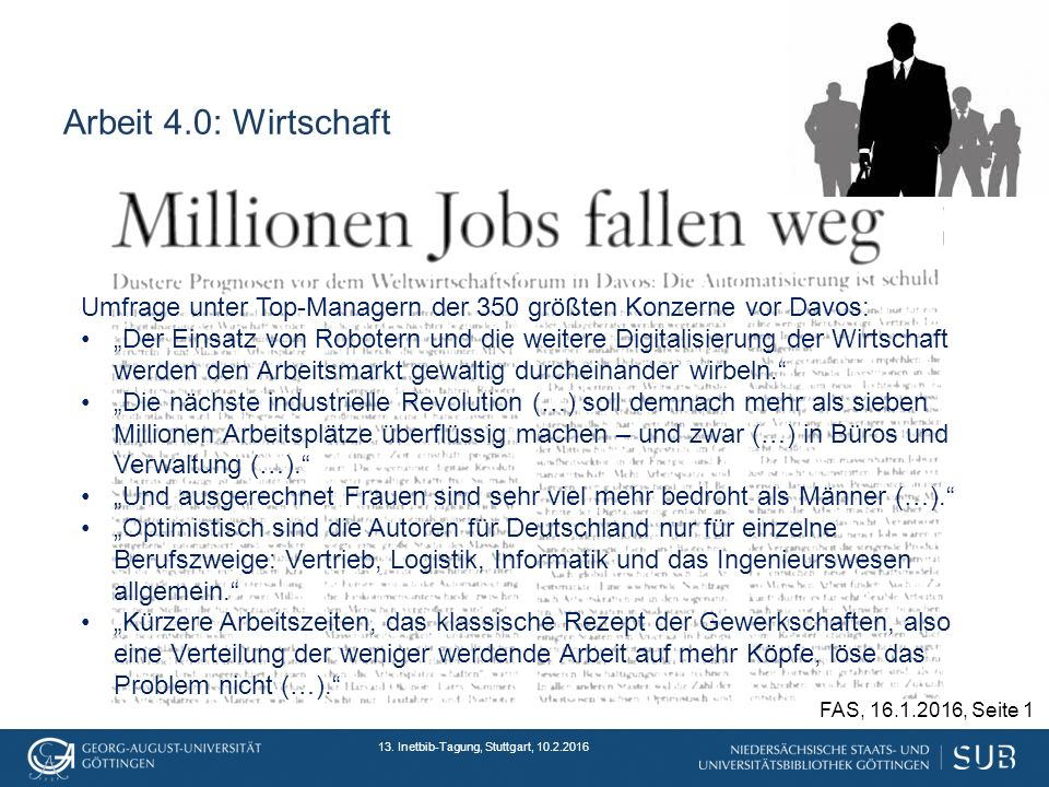 Arbeit 4.0: Wirtschaft 13.