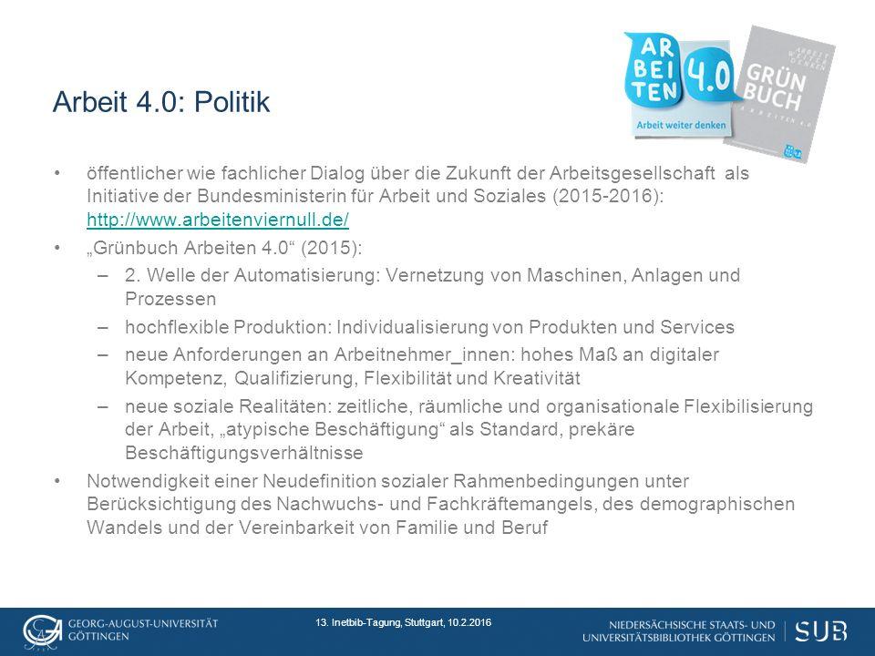 Arbeit 4.0: Politik 13.