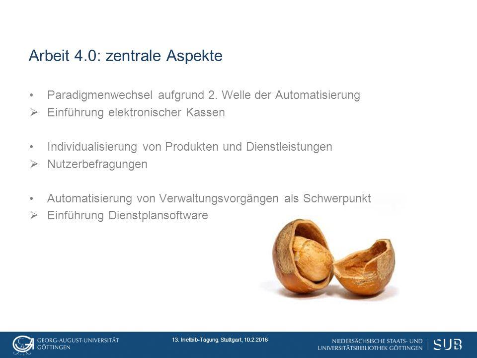Arbeit 4.0: zentrale Aspekte Paradigmenwechsel aufgrund 2.