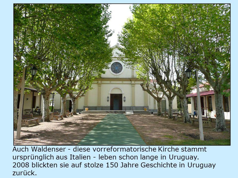 Auch Waldenser - diese vorreformatorische Kirche stammt ursprünglich aus Italien - leben schon lange in Uruguay.