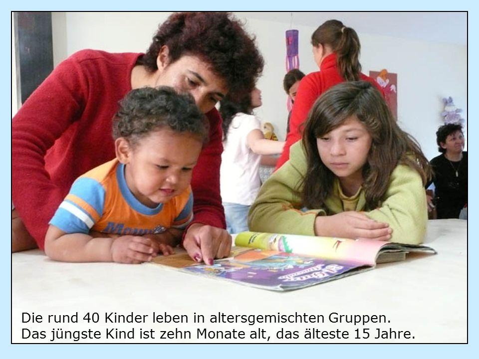 Die rund 40 Kinder leben in altersgemischten Gruppen.