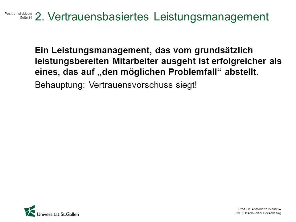 Positiv Individuum Seite 14 Prof. Dr. Antoinette Weibel – 10.