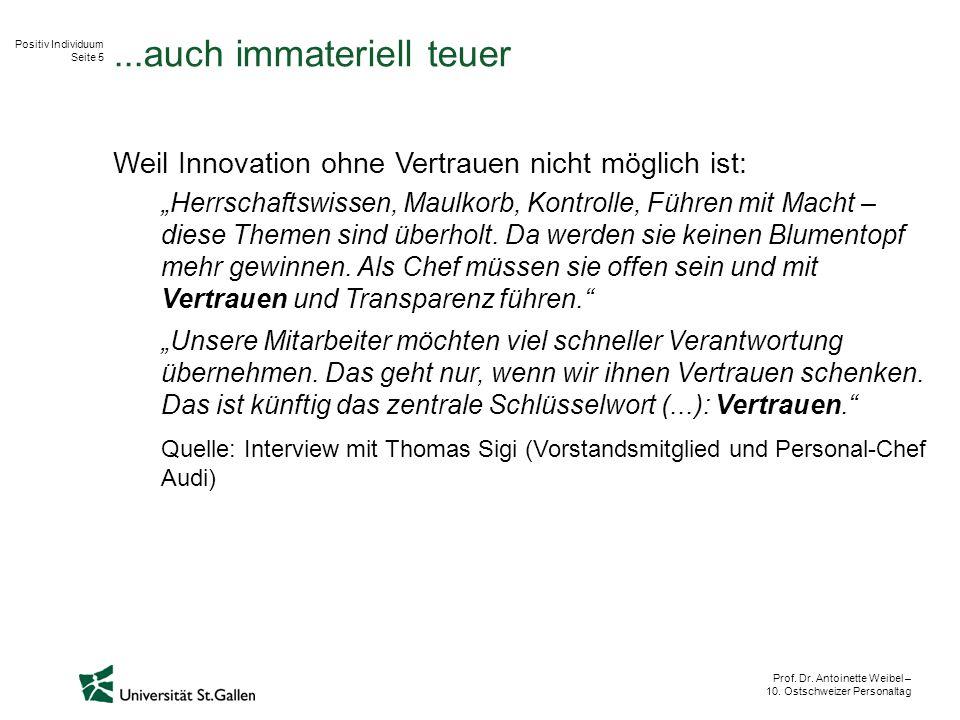 Positiv Individuum Seite 5 Prof. Dr. Antoinette Weibel – 10.