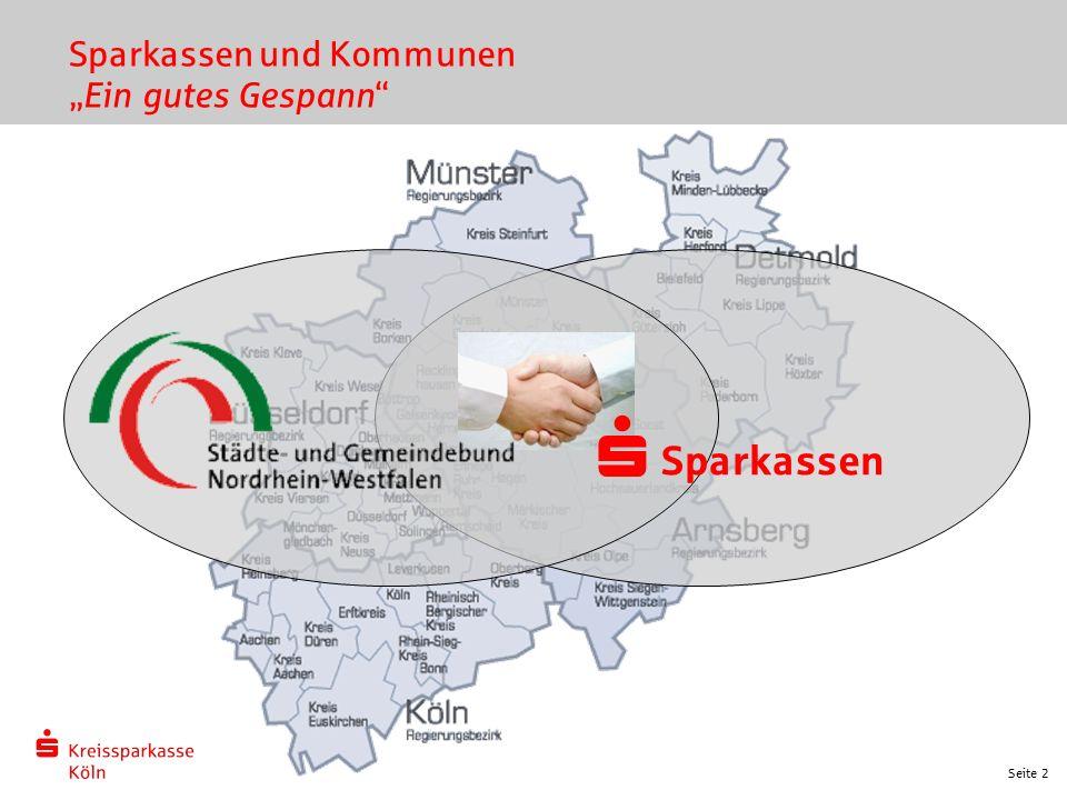 """Seite 2 Sparkassen und Kommunen """"Ein gutes Gespann"""" Sparkassen s"""