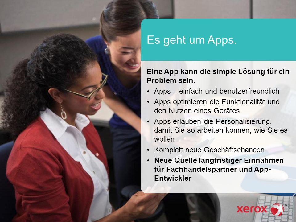 Es geht um Apps. Eine App kann die simple Lösung für ein Problem sein.