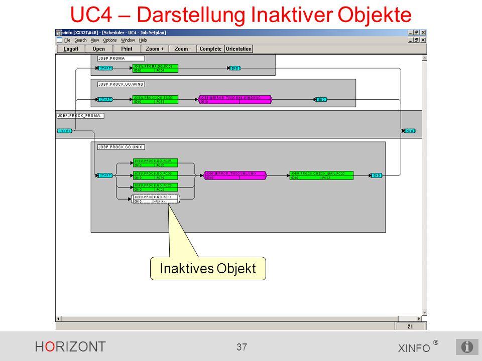 HORIZONT 37 XINFO ® UC4 – Darstellung Inaktiver Objekte Inaktives Objekt