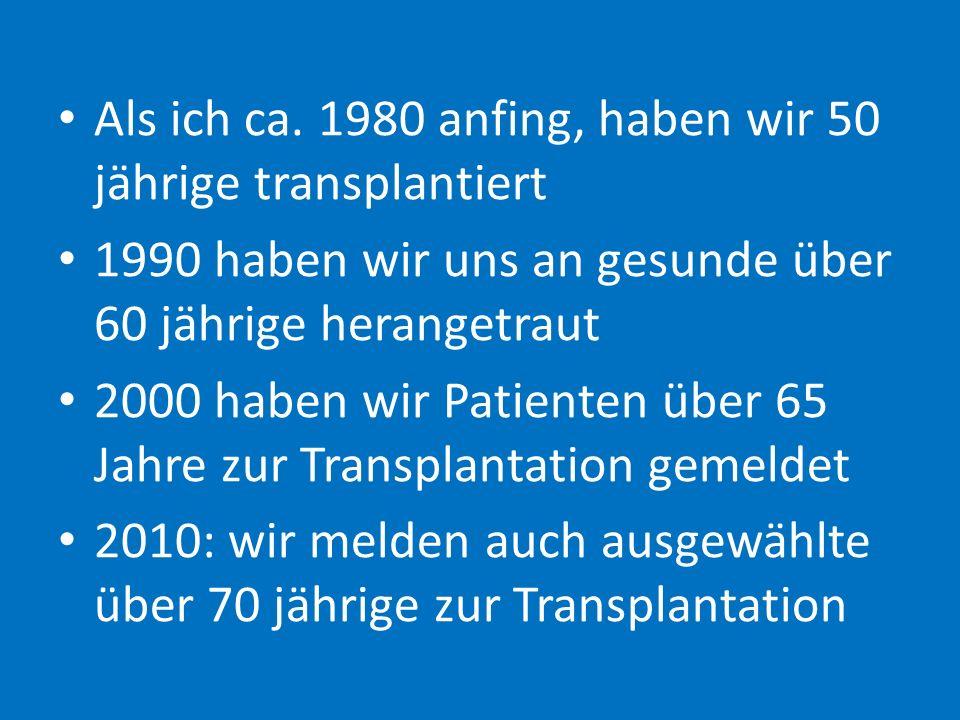 11 Spender von 3698 entwickelten nach einer durchschnittlichen Zeit von 22,5 Jahren selber ein endgültiges Nierenversagen Wie geht's dem Lebendspender