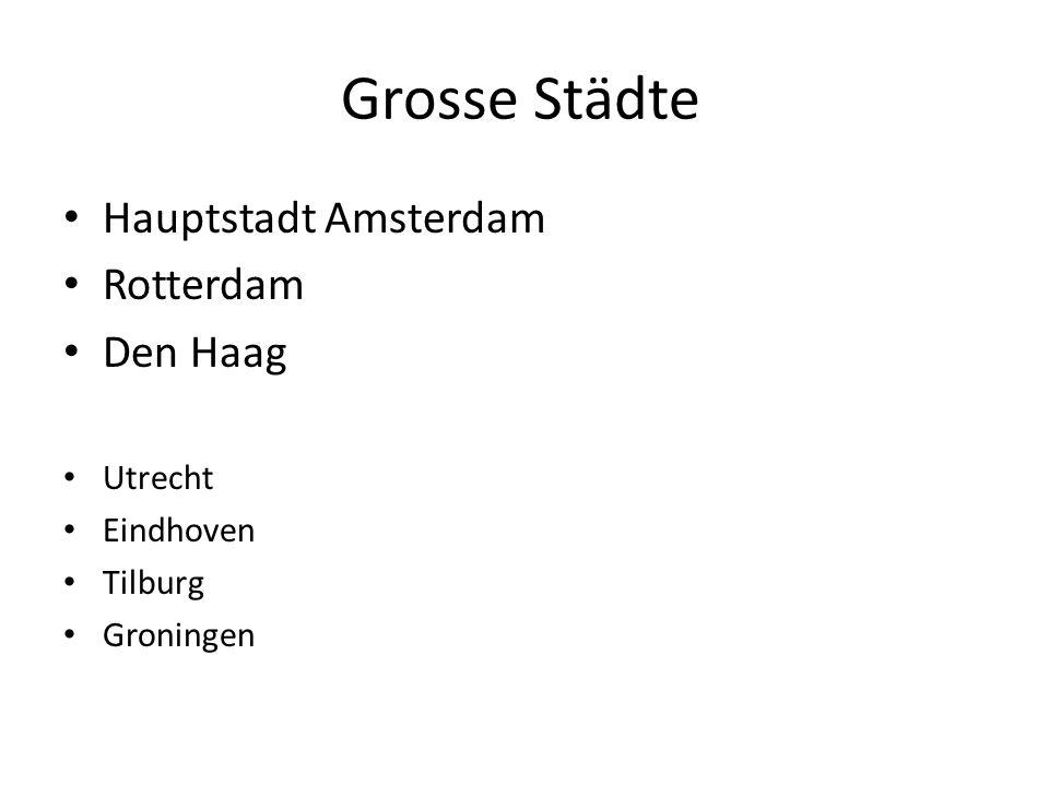 Grosse Städte Hauptstadt Amsterdam Rotterdam Den Haag Utrecht Eindhoven Tilburg Groningen