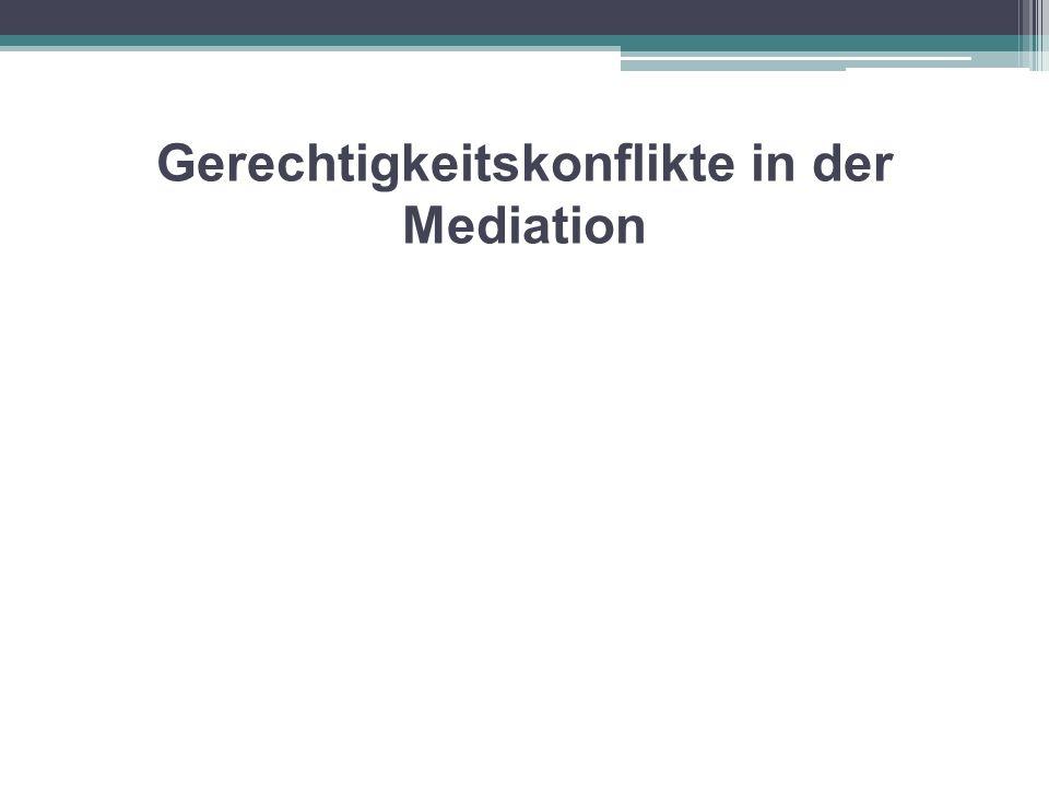 Gerechtigkeitskonflikte in der Mediation