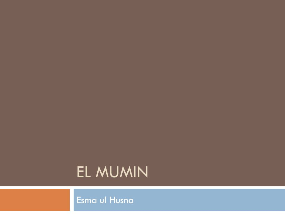 EL MUMIN Esma ul Husna