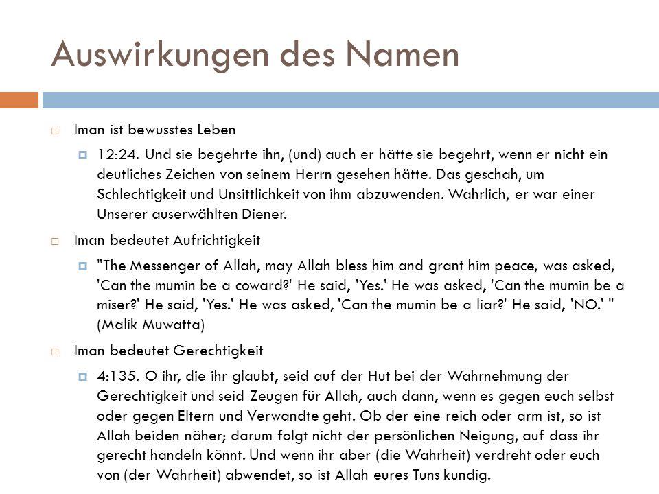 Auswirkungen des Namen  Iman ist bewusstes Leben  12:24.