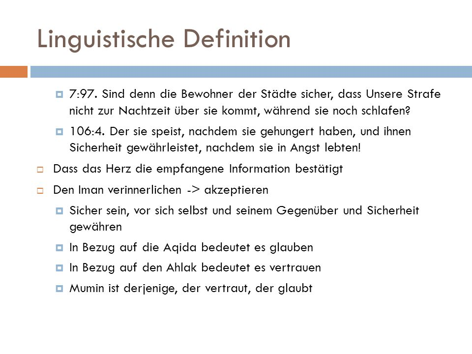 Linguistische Definition  7:97.
