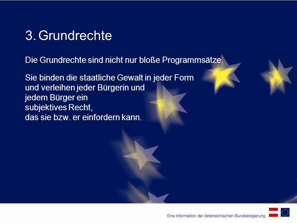 3. Grundrechte Die Grundrechte sind nicht nur bloße Programmsätze.