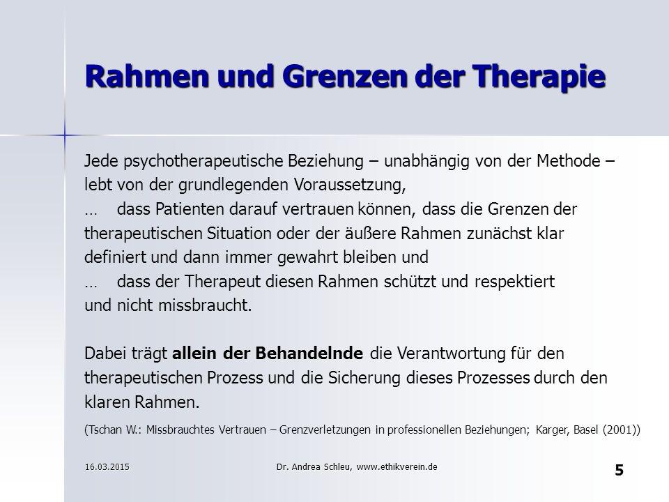 Jede psychotherapeutische Beziehung – unabhängig von der Methode – lebt von der grundlegenden Voraussetzung, …dass Patienten darauf vertrauen können,
