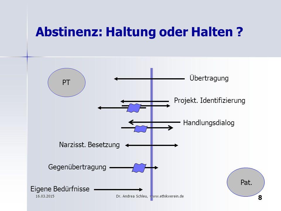 Multiple Beschwerdegründe Frau W. (33J) 16.03.2015 49 Dr. Andrea Schleu, www.ethikverein.de
