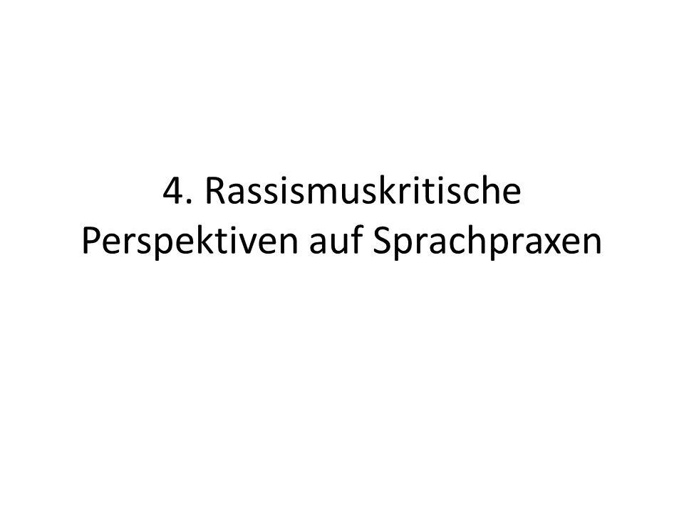 4. Rassismuskritische Perspektiven auf Sprachpraxen