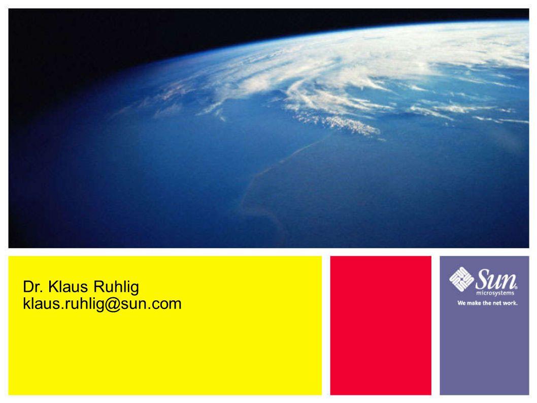 Dr. Klaus Ruhlig klaus.ruhlig@sun.com